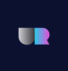 Initial alphabet letter ur u r logo company icon vector