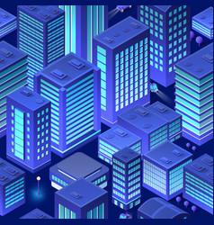 Isometric background city urban vector