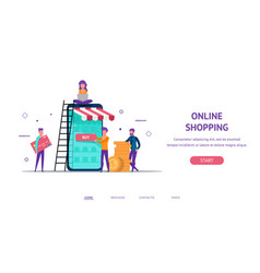 Landing concept for online shop vector