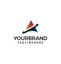 letter a tech logo template design vector image