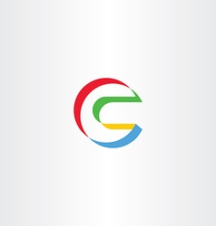 Letter c logo c colorful logo logotype vector