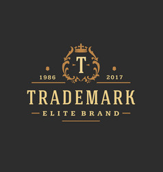 luxury monogram logo template object for vector image