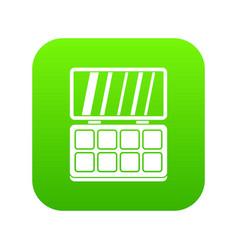 makeup palette icon digital green vector image