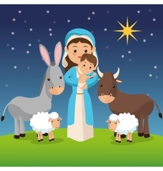 Manger icon merry christmas design vector