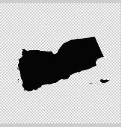 map yemen isolated black on vector image