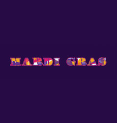 Mardi gras concept word art vector