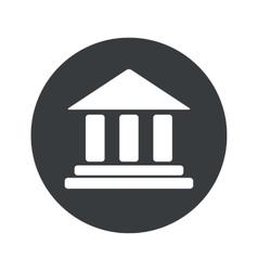 Monochrome round museum icon vector