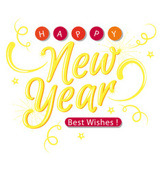 New year gold best wishes image vector