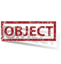 OBJECT outlined stamp vector