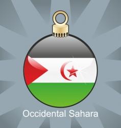 occidental Sahara flag vector image