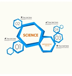 Science infographic template vector