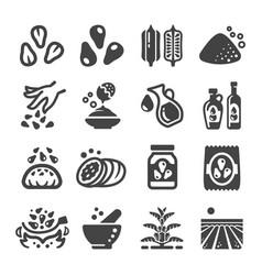 Sesame icon vector