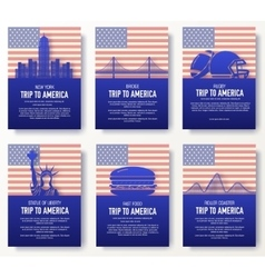 Set of usa country ornament concept vector