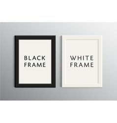 set of white and black empty frames vector image