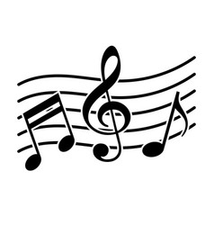 Signs of a musical notation vector