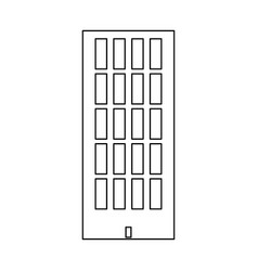 sky tower building black color path icon vector image