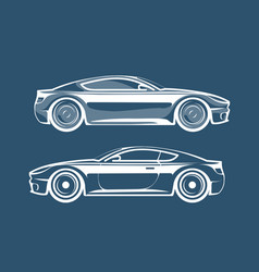Sports car silhouette race vehicle automobile vector