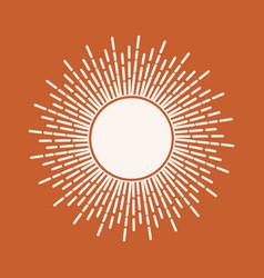 Sun print boho minimalist printable wall art vector