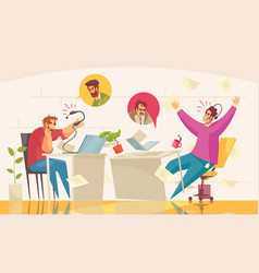Support call center funny composition vector