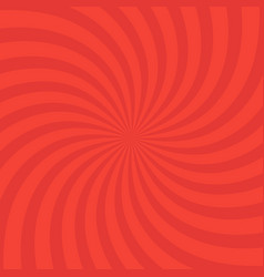 Swirling radial bright red pattern background vector