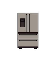 Symbol of fridge color line art icon vector