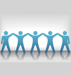teamwork background vector image
