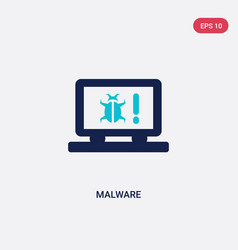 Two color malware icon from cyber concept vector
