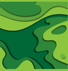 vibrant green paper cut background vector image