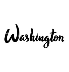 washington handwritten calligraphy name of usa vector image