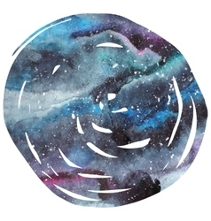 Watercolor galaxy background vector image