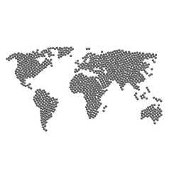 Worldwide map collage of query icons vector