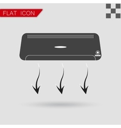 Air conditioner flat style with red vector