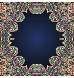 Arabian style ornamental frame for text vector image