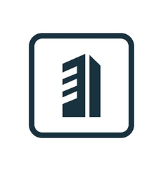 building icon Rounded squares button vector image