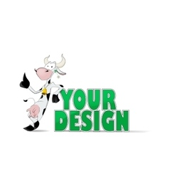 Cute cow with green grass vector image vector image