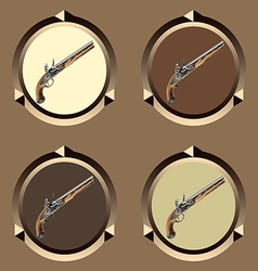 icon pirate pistol vector image