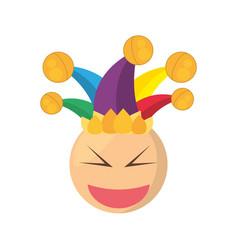 joker emoticon cartoon design vector image