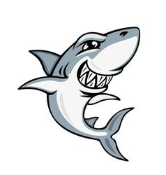 cartoon smiling shark vector image vector image
