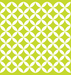 Green and white overlapping circles abstract vector