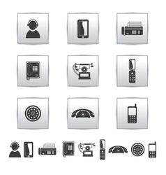 Movie icons Film and square gray vector image vector image