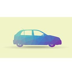 Polygon car vector image