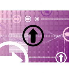 purple arrow vector image