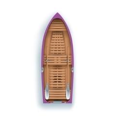 rowing boat promenade vector image vector image