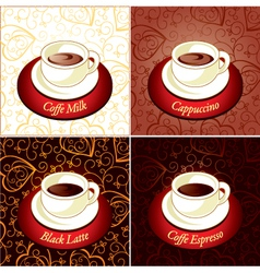 Set of coffee vector image