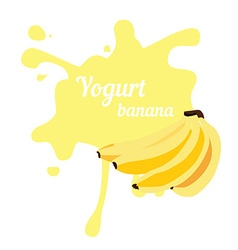 Splash of banana yogurt vector