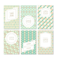 Vintage pattern card vector image