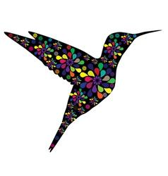 floral hummingbird vector image vector image