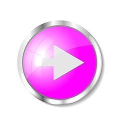 Pink web button vector image