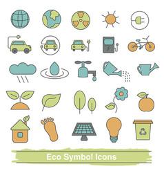 set of eco line icons set of eco line icons vector image