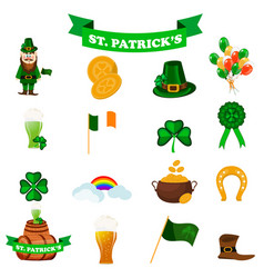 st patrick s day icons vector image